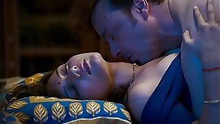 [P2] Mastram Webseries Pushpa Bahu in bed getting fucked and sucked wearing off colour blouse(model- Ambika)