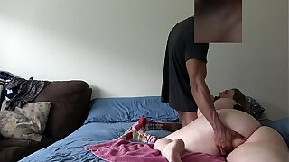 Wife Gets Fucked In Her Bed While Husband Is Convenient Work