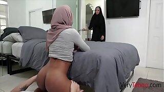 Ebony Sister In Hijab Sins With Brother- Milu Blaze