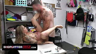 Unfortunate Cute Shoplifter Gets Dominated By Female